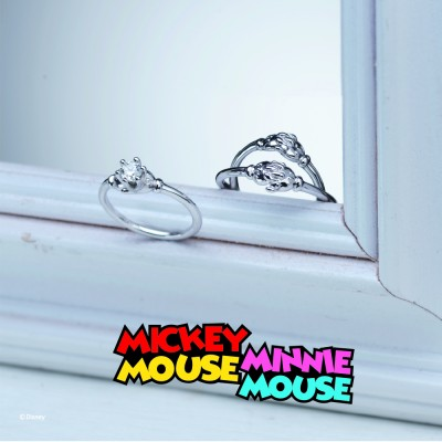 【NEW!!】JAM HOME MADE MICKEY & MINNIE SHAKE HANDS  ENGAGE RING